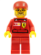 Minifig No: rac032s  Name: F1 Ferrari Engineer 2 - with Vodafone Shell Torso Stickers