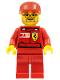 Minifig No: rac032s  Name: F1 Ferrari Engineer 2 - with Vodafone Shell Torso Stickers