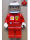 Minifig No: rac035s  Name: F1 Ferrari - K. Raikkonen with Helmet White Printed - with Torso Sticker