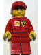 Minifig No: rac037bs  Name: F1 Ferrari Engineer 3 (8144-2) - with Shell Torso Stickers