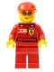 Minifig No: rac037s  Name: F1 Ferrari Engineer 3 - with Torso Stickers