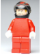 Minifig No: rac042  Name: F1 Ferrari - K. Raikkonen with Helmet Black Decorated - without Torso Stickers (8168)
