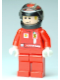 Minifig No: rac042s  Name: F1 Ferrari - K. Raikkonen with Helmet Black Decorated - with Torso Stickers (8168)