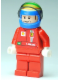 Minifig No: rac043s  Name: F1 Ferrari - F. Massa with Helmet Blue Decorated - with Torso Stickers (8168)