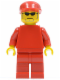 Minifig No: rac045  Name: F1 Ferrari Engineer (8185) - without Torso Sticker