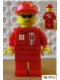 Minifig No: rac045s  Name: F1 Ferrari Engineer (8185) - with Torso Stickers on Front and Back