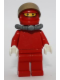 Minifig No: rac046  Name: F1 Ferrari Pit Crew Member with Scuba Tank (8185) - without Torso Stickers