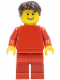 Minifig No: rac051  Name: F1 Ferrari Pit Crew Mechanic (30196)