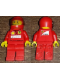 Minifig No: rac052s  Name: F1 Ferrari Pit Crew Tire Carrier - with Torso Stickers