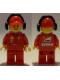Minifig No: rac056  Name: F1 Ferrari Marshall with Torso Stickers with Shell, UPS, Ferrari, Santander and Kaspersky Logos Pattern