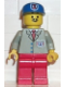 Minifig No: res003  Name: Coast Guard 2 - Red Legs, Blue Cap, Moustache
