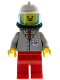Minifig No: res007  Name: Coast Guard 2 - Red Legs, Airtanks, White Fire Helmet