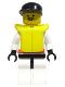 Minifig No: rsq013  Name: Res-Q 2 - Black Cap, Life Jacket
