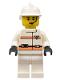 Minifig No: rsq015  Name: Res-Q 3 - White Fire Helmet, White Hips