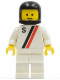 Minifig No: s010  Name: 'S' - White with Red / Black Stripe, White Legs, Black Classic Helmet