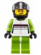 Minifig No: sc002  Name: Porsche Race Car Driver 1