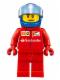 Minifig No: sc013  Name: Ferrari Pit Crew Member 1 - Scooter Driver