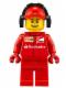 Minifig No: sc015  Name: Ferrari Pit Crew Member 3 - Smile