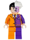 Minifig No: sh007  Name: Two-Face, Orange and Purple Suit