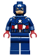 Minifig No: sh014  Name: Captain America - Dark Blue Suit