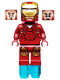 Minifig No: sh015  Name: Iron Man with Triangle on Chest