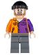 Minifig No: sh021  Name: Two-Face's Henchman, Orange and Purple - Beard