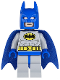 Minifig No: sh111  Name: Batman - Light Bluish Gray Suit with Yellow Belt and Crest, Blue Mask and Cape