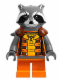 Minifig No: sh122  Name: Rocket Raccoon - Orange Outfit