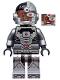 Minifig No: sh155  Name: Cyborg, Black Gloves, Smiling