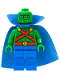 Minifig No: sh158  Name: Martian Manhunter - Cape with Collar