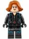 Minifig No: sh186  Name: Black Widow - Short Hair
