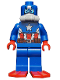 Minifig No: sh214  Name: Scuba Captain America