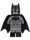Minifig No: sh218  Name: Batman - Dark Bluish Suit, Gold Belt, Black Hands, Spongy Cape, Large Bat Logo