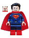 Minifig No: sh220  Name: Superman - Dark Blue Suit, Tousled Hair, Red Boots (76046)