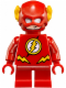 Minifig No: sh246  Name: The Flash - Short Legs