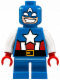 Minifig No: sh250  Name: Captain America - Short Legs