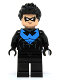 Minifig No: sh294  Name: Nightwing - White Eye Holes and Blue Chest Symbol