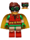 Minifig No: sh341  Name: Robin - Green Glasses, Frown / Eyebrows Raised Pattern (70912)