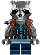 Minifig No: sh384  Name: Rocket Raccoon - Dark Blue Outfit