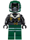 Minifig No: sh403  Name: Vulture, Dark Green Flight Suit, Black Bomber Jacket