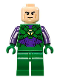 Minifig No: sh459  Name: Lex Luthor, Green and Dark Purple Light Armor