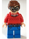 Minifig No: sh464  Name: Dick Grayson, Red Sweater with Dark Red Robins