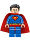 Minifig No: sh489  Name: Superman - Blue Suit, Tousled Hair (76096)