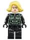 Minifig No: sh494  Name: Black Widow, Blond Hair