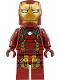 Minifig No: sh498  Name: Iron Man Mk 43 (Trans-Clear Head)