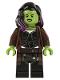 Minifig No: sh506  Name: Gamora, Long Reddish Brown Coat