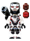 Minifig No: sh564  Name: War Machine - White Jumpsuit with Shooter