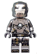 Minifig No: sh565  Name: Iron Man Mark 1 Armor (Trans-Clear Head)