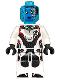 Minifig No: sh574  Name: Nebula - White Jumpsuit