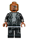 Minifig No: sh585  Name: Nick Fury - Gray Sweater and Black Trench Coat (76130)